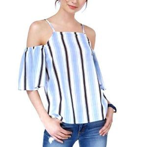 NWT Almost Famous | Open Shoulder Striped Top